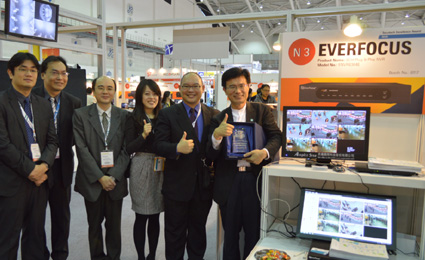 EverFocus ENVR8304E wins secutech Excellence Award 2014