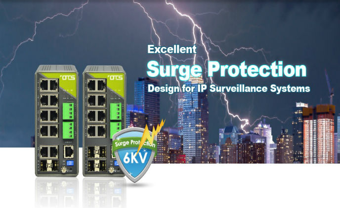 OT Systems provides surge protection for IP surveillance systems