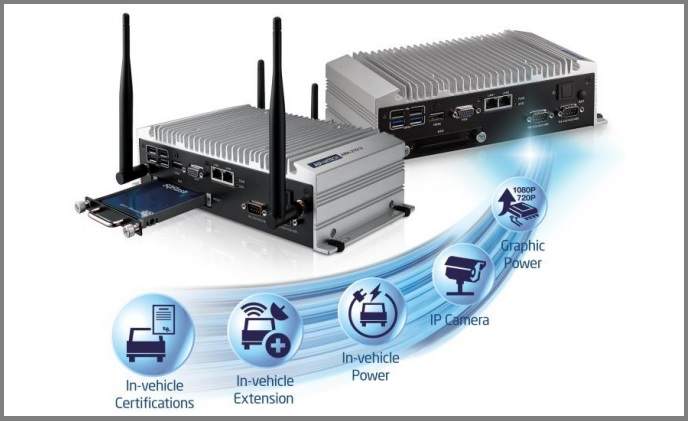 Advantech ruggedized NVR and in-vehicle solutions for Mirasys VMS