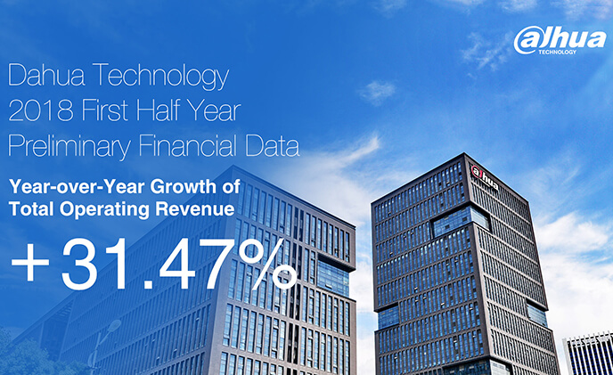 Dahua Technology reported 2018H1 preliminary financial data