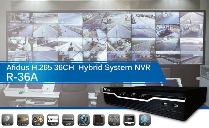 Afidus unveils new H.265 36CH Hybrid standalone NVR