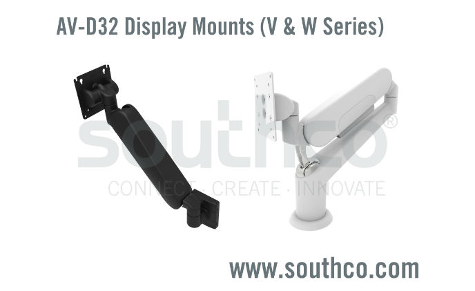 Southco introduces height adjustable display mount series