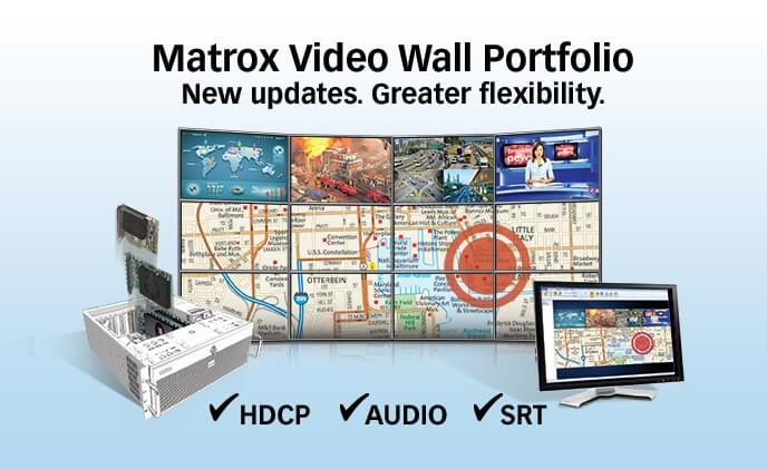 Matrox announces updates to video wall portfolio