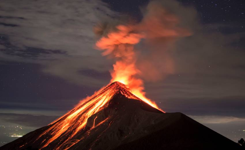 Award-winning IDIS camera keeps watch over the Volcan de Fuego in Guatemala