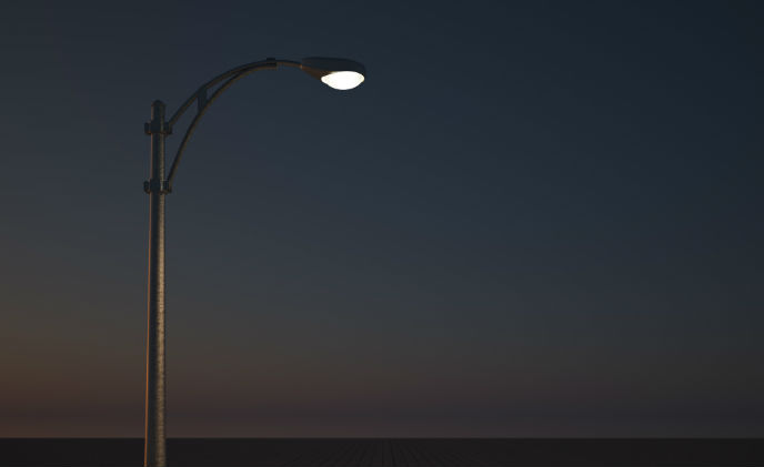 Smart security solution atop streetlights