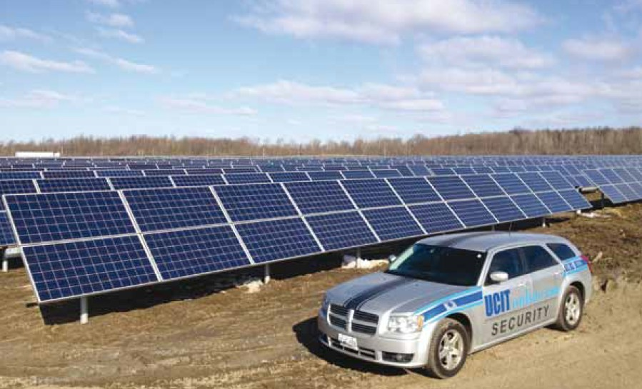 Canadian solar farm operator keeps panels spotless with thermal and IP cams