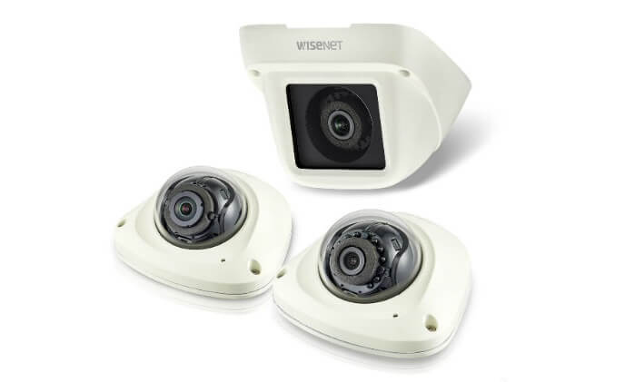 Hanwha Techwin has introduced a new range of compact H.265 dome cameras