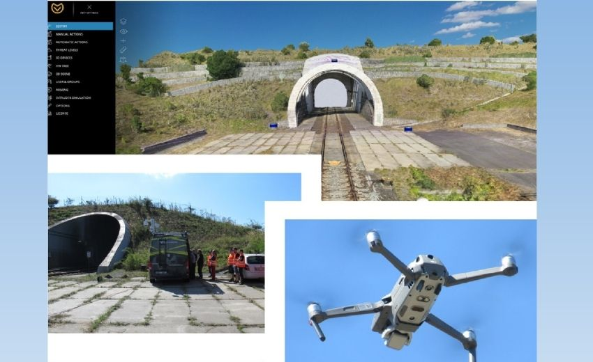 Railway tunnel protected by Accur8vision's cutting edge technologies