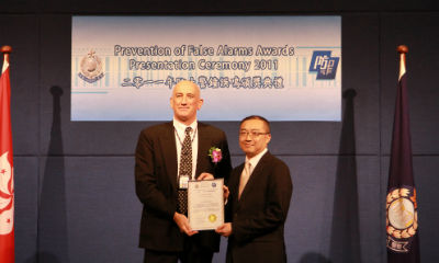 Tyco receives gold award for prevention of false alarms in Hong Kong