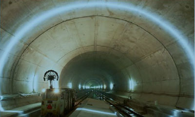 Basler GigE cameras help inspect train tunnel in Switzerland