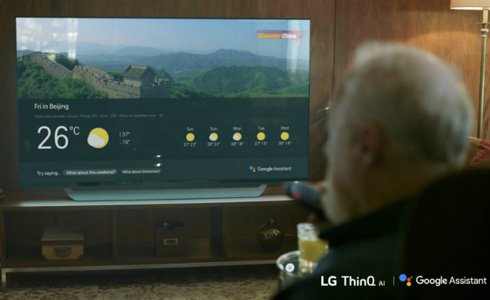 LG launches the Google Assistant on 2018 AI-enabled TVs