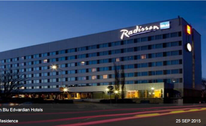Hanwha Techwin provides video surveillance for Radisson Blu Edwardian Hotels