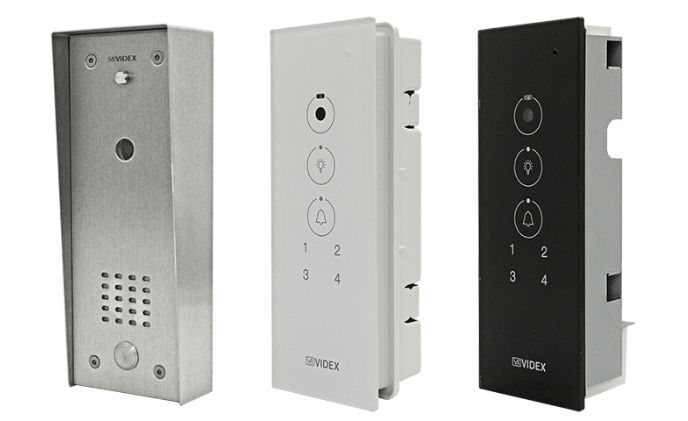 Videx introduces video door entry panel for individual apartments