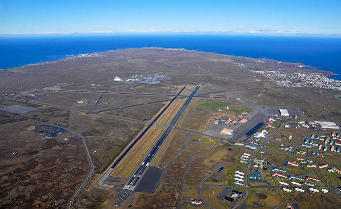CLD Fencing provides airport temporary fencing at Keflavik Airport