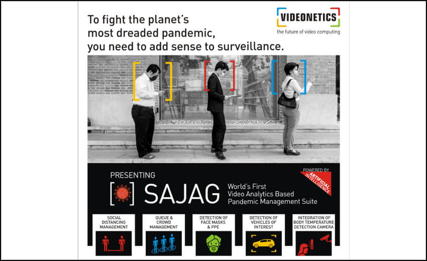 Videonetics launches video analytics based Pandemic Management Suite 'SAJAG'