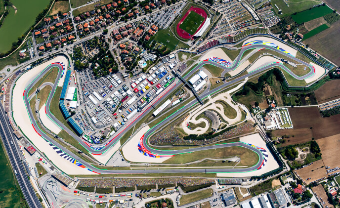 Bosch video equipped at Misano race track in Italy to track racers