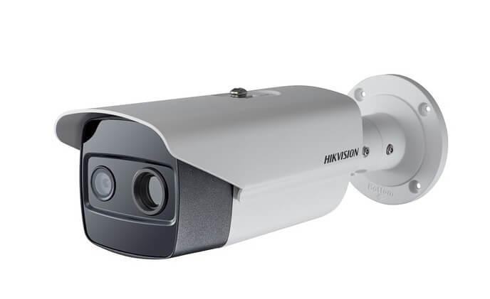 Hikvision Thermal Bi-spectrum bullet camera designed to detect fires before they happen