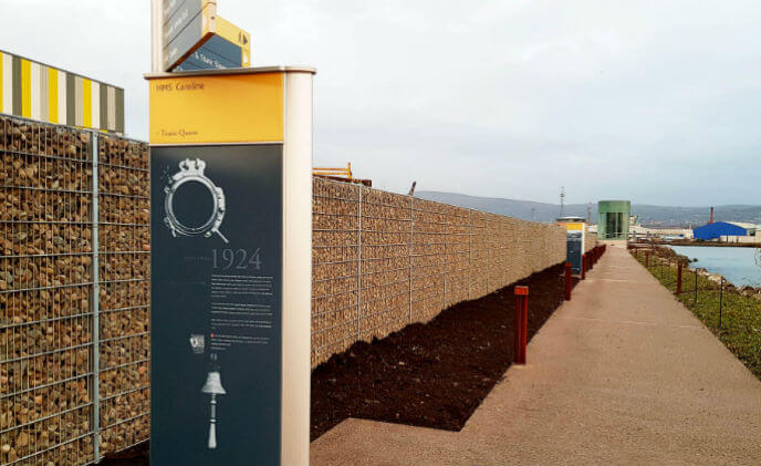 300m of Decorative Stone Fence helps the Titanic Walkway shine