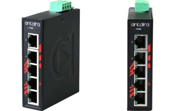 Antaira releases compact industrial gigabit unmanaged Ethernet switch  (LNX-C500G Series)