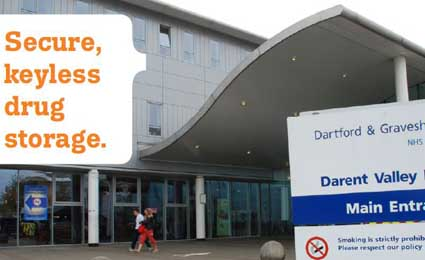 Nedap keyless drug storage for Darent Valley hospital