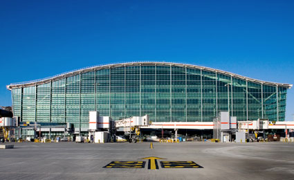 CEM emerald intelligent access terminal secures Heathrow Airport critical areas
