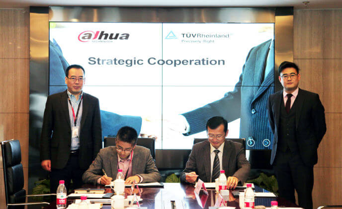 Dahua strategically cooperates with TüV Rheinland to cope with GDPR