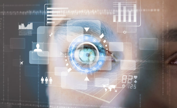 Eyelock iris recognition technology works from 60 cm away