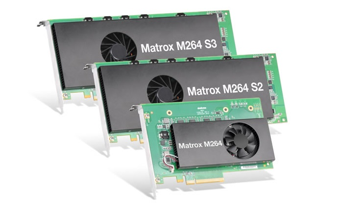 Matrox expands lineup of high density H.264 4:2:2 10 bit codec cards