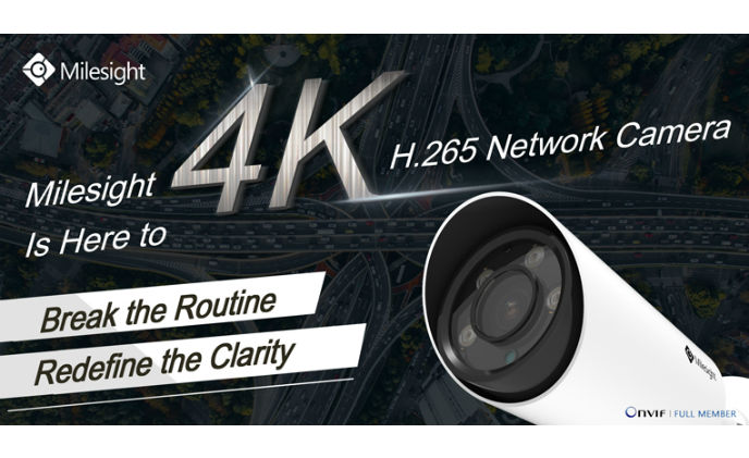 Milesight unveils 4K H.265 network camera to expand 4K solution