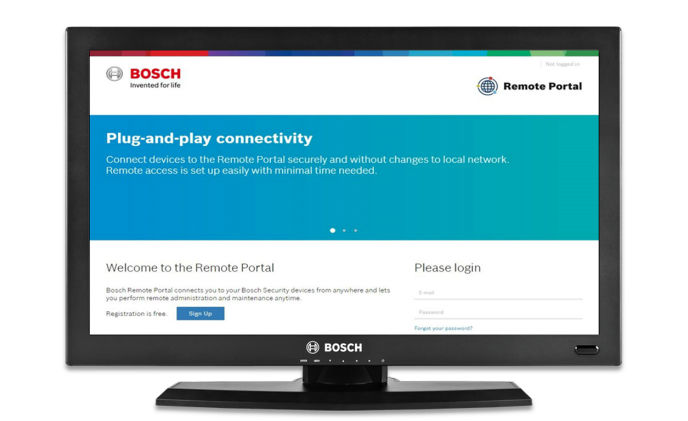 Bosch Remote Portal updated with support for additional devices and services