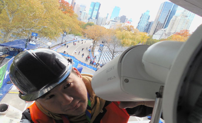 Sony IP cameras chosen by Virsig in New York City Marathon