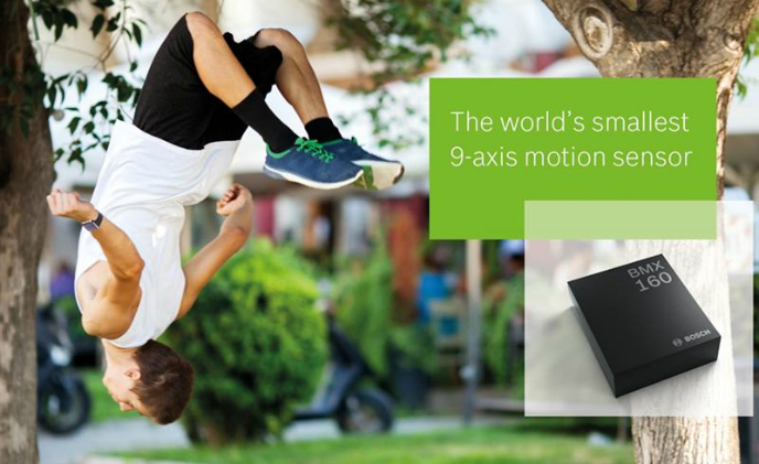 Bosch Sensortec launches tiny and low-power 9-axis motion sensor BMX160 for smartphones and wearables