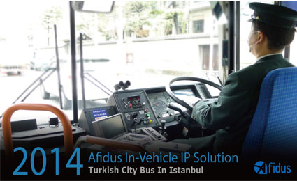 Afidus provides mobile surveillance for city buses in Istanbul