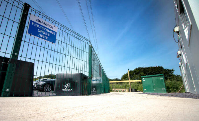Skanska delivers CLD Fencing barrier fencing for Dŵr Cymru Welsh Water