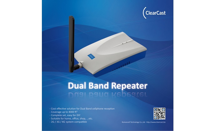 Romancell ClearCast dual band indoor repeater