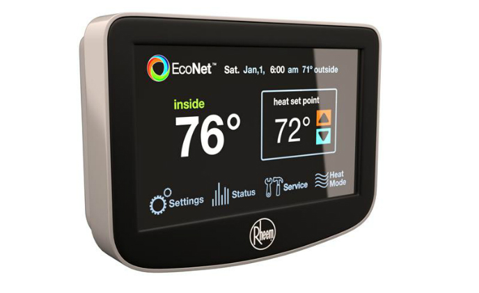 Rheem EcoNet enables well control of residential energy consumption