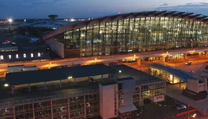 Moscow airport watches over cargo area and passenger terminal with 2,100 eyes