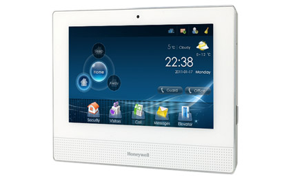 Honeywell IS-4500 IP video door phone integrated with smart home products