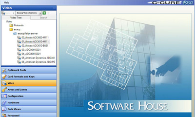 exacqVision VMS integrates with Software house C-Cure 9000