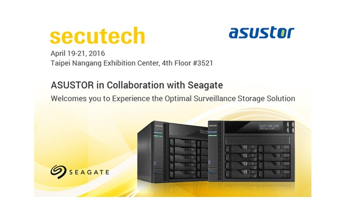 ASUSTOR's announces AS6210T at Secutech, supports Seagate HDDs