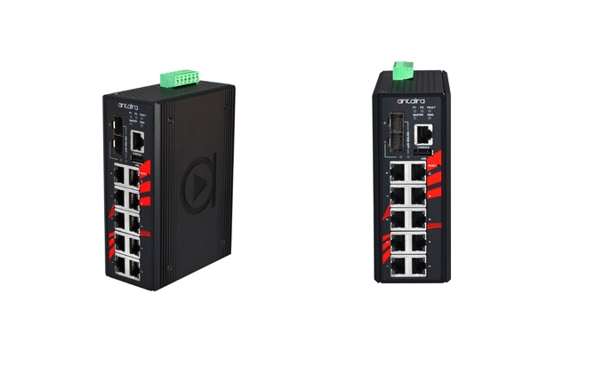 Antaira introduces 12-port industrial PoE+ Gigabit managed switches