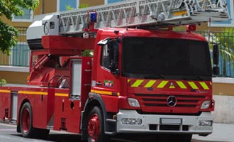 French Fire Department Watches Staff and Assets with IP Video Surveillance