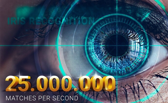 Dermalog iris recognition compared up to 25 million eyes per second