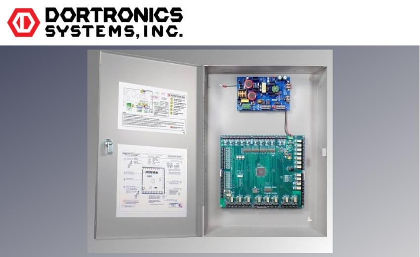 Dortronics new 48900 series interlock Controller accommodates up to 9 doors
