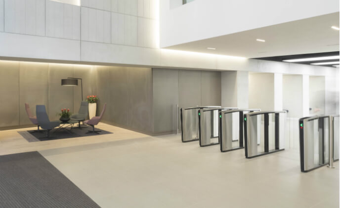Glasgow office building tightens security with Boon Edam turnstiles