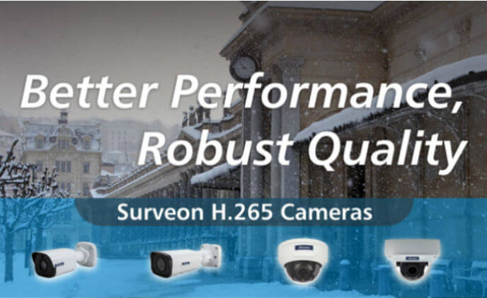 Surveon H.265 cameras achieve better performance with robust quality