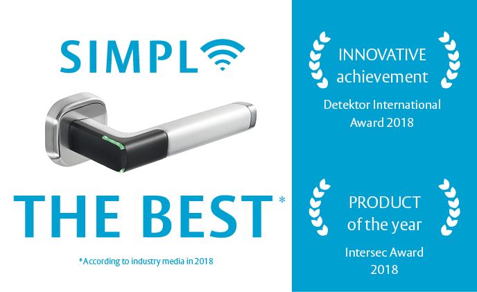 Why does the Aperio H100 access control handle keep winning industry awards?