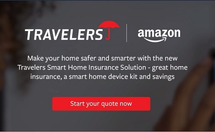 Travelers offers home insurance and smart home kit on Amazon