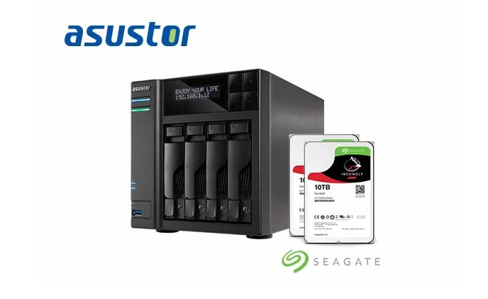ASUSTOR is compatible with Seagate IronWolf 10 TB NAS hard disks