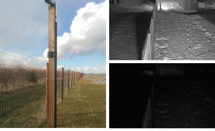 Solar farm perimeter detection enhanced with GJD's infrared illuminators